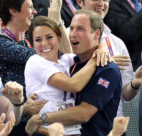 El abrazo real de Kate y William en las olimpiadas