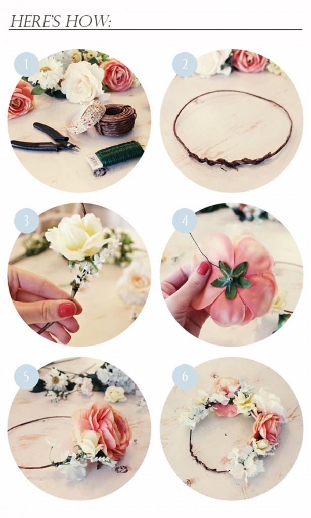 Coronas de flores DIY, para hacerlas tú misma en casa
