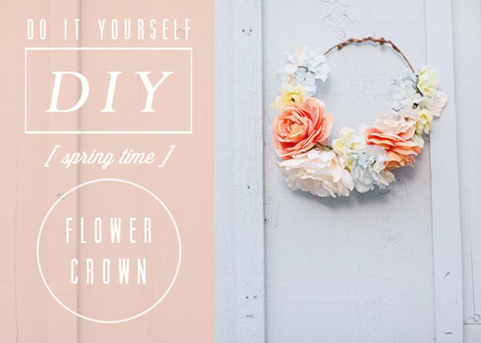 Coronas de flores DIY, para hacerlas tu misma en tu casa