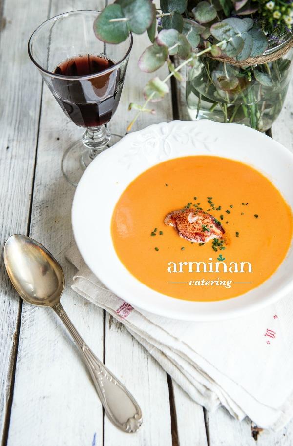 Fotos-armiñan-catering. Crema-marisco