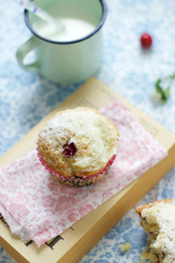 Muffins con arandanos y queso food and cook