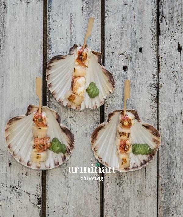 Fotos-armiñan-catering. Vieira-bogavante