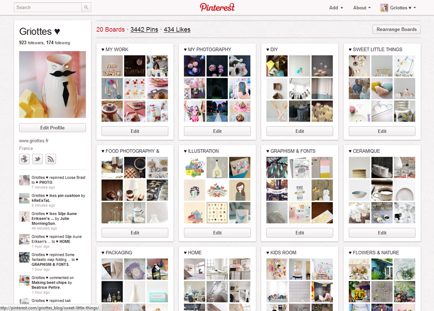 Pinterest GRIOTTES