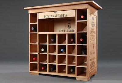 Decorar con cajas de vino